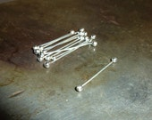 10 Fine Silver Twists  - 28 Gauge - Double Headpin - Handmade Choose your Length