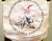 Hobbit Lonely Mountain Dwarvish Runes Inspired Purse Made to Order