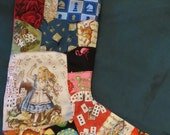 Reserved for  xmishie26x     Custom Alice in Wonderland Christmas Stocking