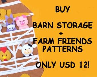 Combo Offer: Barn + Farm Friends Digital Patterns