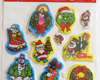 Vintage Puffy Christmas Stickers Imperial Stick-Ons
