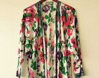 floral print kimono size M