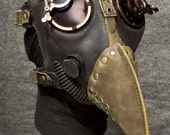 Plague Doctor Gas Mask w Jewelers Lenses, Antiqued Copper Hardware - MS058CA