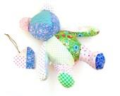 "Memory bear, 20"" teddy bear, patchwork teddy bear, shelf sitter, large keepsake teddy bear, ooak teddy bear, remembrance teddy"