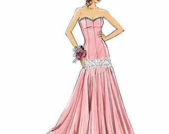 Strapless Evening Gown Pattern,  McCall's Sewing Pattern 7050