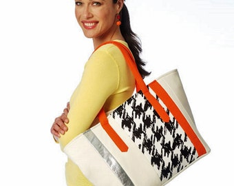 Big Bag Pattern, Large Tote Bag Pattern, Zippered Bags Pattern, Butterick Sewing Pattern 6188