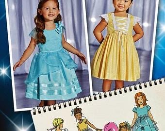 Little Girls' Princess Dress Pattern, Toddlers' Princess Dress Pattern, Simplicity Sewing Pattern 1171