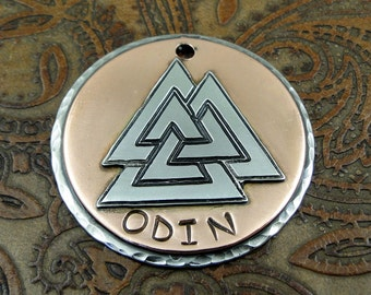 Custom Valknut Dog ID Tag-Three Triangles Dog Tag,Pet ID Tag,Personalized Dog Collar ID Tag, Dog Tag for Dogs