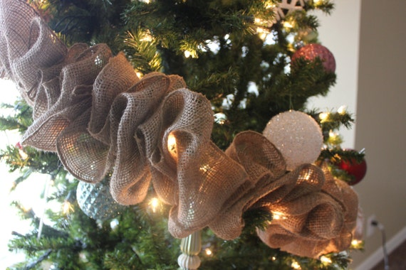 Natural Burlap Garland for Home & Holiday Decor