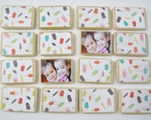 Personalized Memory Game-Popsicle First Birthday Gift-Child's Christmas Gift/Children's Gift by burlap and blue