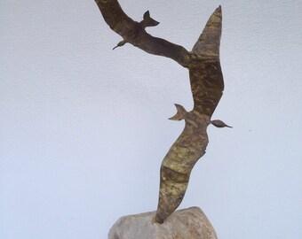 Mid century sculpture of Birds in Flight