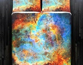 Cosmos Nebula Rainbow Space Galaxy Bedding Duvet Cover Queen Size King Twin Blanket Sheet Full Double Comforter Toddler Daybed Kid Teen Dorm