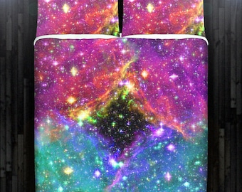 Black Hole Space Nebula Galaxy Duvet Cover Bedding Queen Size King Twin Blanket Sheet Full Double Comforter Toddler Daybed Kid Teen Dorm