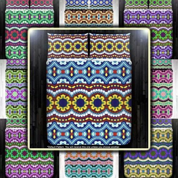 Mexican Talavera Gypsy Bohemian Duvet Cover Bedding Queen Size
