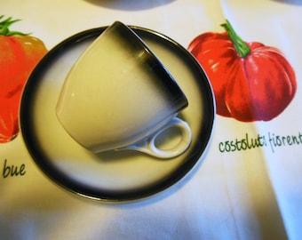8 Demitasse McNicol Air Brush, Cups & Saucers, 8 Black / White , Restaurant China