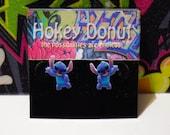 Disney Waving Stitch Stud Earrings