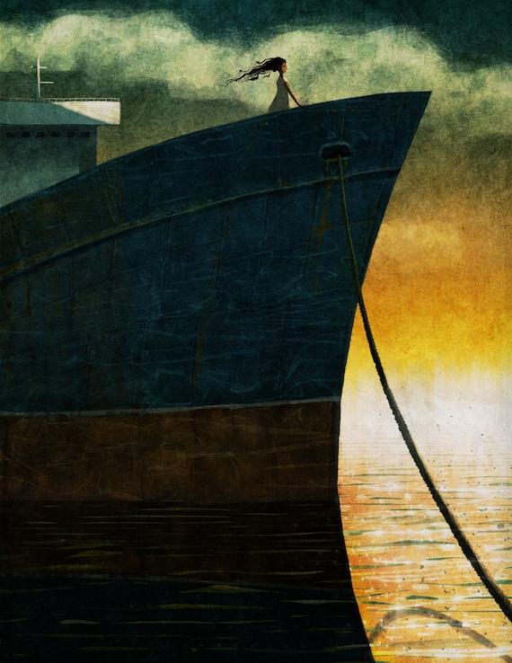Sixpenny Magazine Issue 01 Illustration 01 - Signed Print