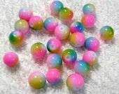 Cotton Candy Beads - Glass Beads - (8mm) - (24 Pcs) - B-1534