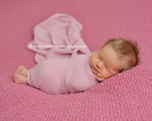 perfect pink sweater knit newborn girl baby wrap photo prop READY TO SHIP