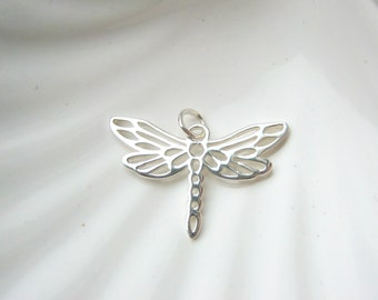 Sterling Silver Dragonfly Charm - Add On - Nature Bug Insect