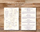 Custom Wedding Map and Itinerary - Miami Beach, FL