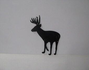 Buck 036 Standing Rustic Wildlife Metal Silhouette