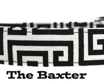 Black and White Dog Collar - The Baxter
