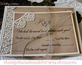 Wedding Invitations Lace Handmade Rustic Wedding Invitations  t-rustic wedding   sample