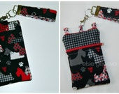 Black and Red or Hot Pink Great Scotties Scottie Dog iPhone 6 Plus Phone Case Wristlet Animal Zebra Print Hounds Tooth Plaid Small Floral