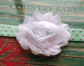 Baby Headband...Elastic Headband...Baby Girl Headband...Shabby Rose Headband...Baby Flower Headband...Newborn Headband