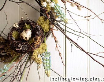 Spring Muscari Nest Wreath