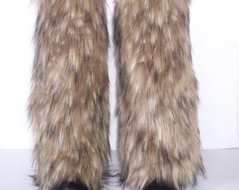 LegVogue Awesome Faux Fur Leg Muffs