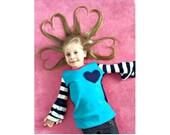Perfect 10 Top, Knit Sewing Pattern, Girls Sewing Pattern, Easy Sewing Pattern, Persnickety Pattern, Girls Shirt Pattern
