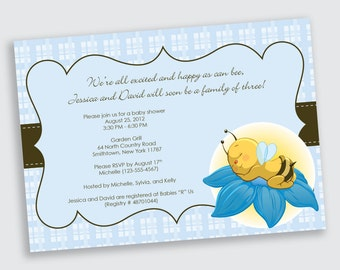 Bumblebee Baby Shower Invitation - DEPOSIT