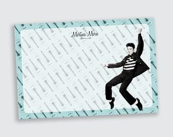 Elvis Presley Flat Notecard / Stationery - Personalized - Printable