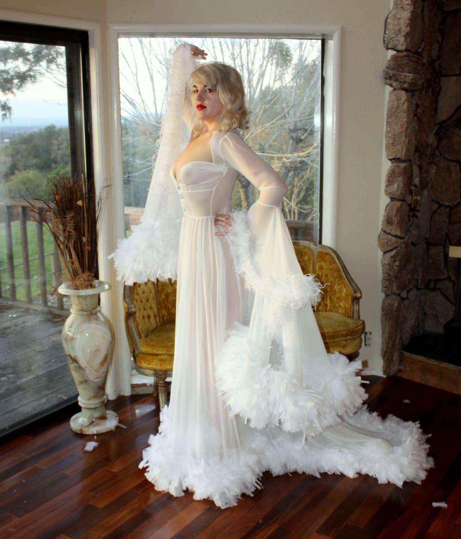 Custom Bridal Hollywood Starlet Dressing Gown By Daintyrascal
