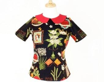 Frida Vintage Inspired Top