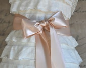Satin sash in your choice of colors. Bridal belt Bridesmaids sash Flower Girl sash. Blush shown