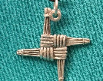 Pewter Brigid's Cross Pendant