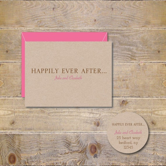 Happily Ever After Wedding Thank You Cards Fairytale Wedding – Thank You Cards After Wedding