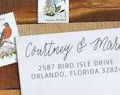 Custom Rubber Stamp - Self Inking Address Stamp - Courtney