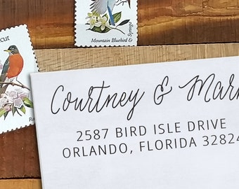 Custom Rubber Stamp - Self Inking Address Stamp - Courtney