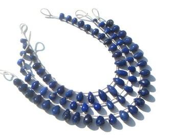 Lapis Lazuli Smooth Drops Semi Precious Gemstone Beads (Quality A) / 20 Pieces / CODE 970