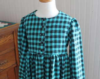 SALE! Cozy Plaid Flannel Dress Size 3/4 Ready to Ship