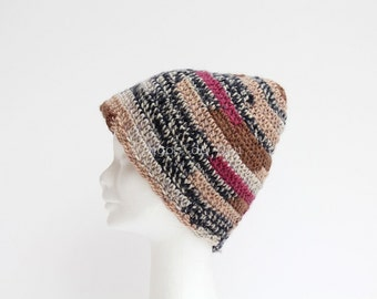 Merged crocheted hat. Wool. Handmade by T. Catana. Gift for her. Made to Order.