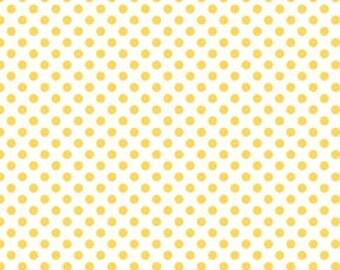 Riley Blake Small Polka Dot - C480-50 Yellow Small Dots Yellow