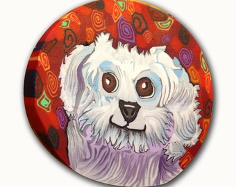 Fin the Fluffiest- White Dog- Polymer Clay Silly Milly