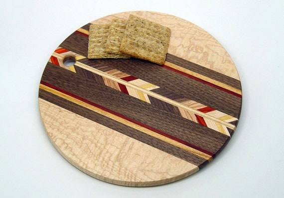 maple 8 round wood cutting board r by 866woodguy on etsy. Black Bedroom Furniture Sets. Home Design Ideas