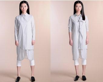 cotton dress/shirt sun shirt sun dress long shirt spring dress spring shirt 2 layers dress