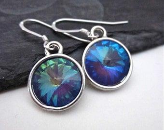 Ultra Purple Swarovski Crystal Earrings -- Light Purple Crystal Earrings -- Pastel Purple Earrings -- Silver & Purple Earrings